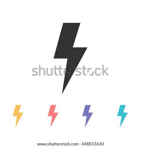 lightning icon. vector illustration - stock vector