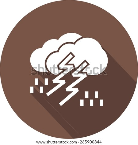 Lightning, rain, cloud, storm, thunderstorm icon vector image. Can also be used for weather, forecast, season, climate, meteorology. Suitable for web apps, mobile apps and print media. - stock vector
