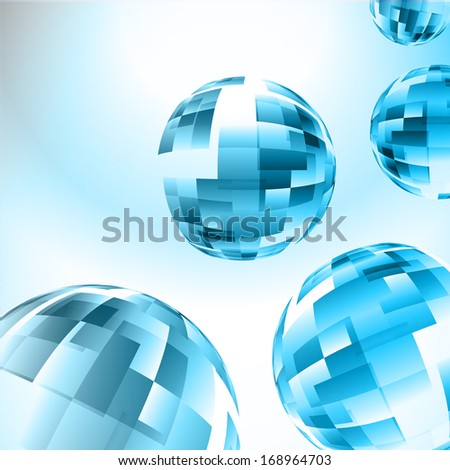 Lights background abstract ,Abstract blue sphere, blue vector earth design ,Illustration camera photo.