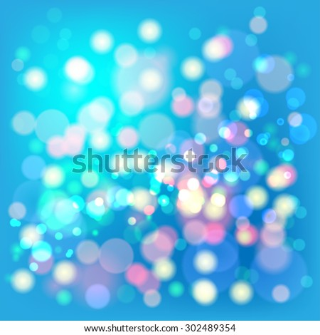Lights Boke Blur Background. Illustration Vector EPS10. - stock vector