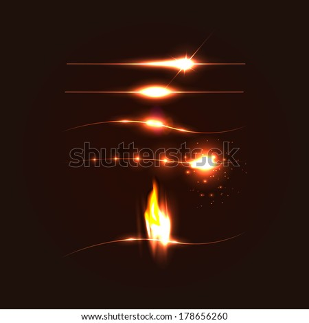 lights effects - stock vector
