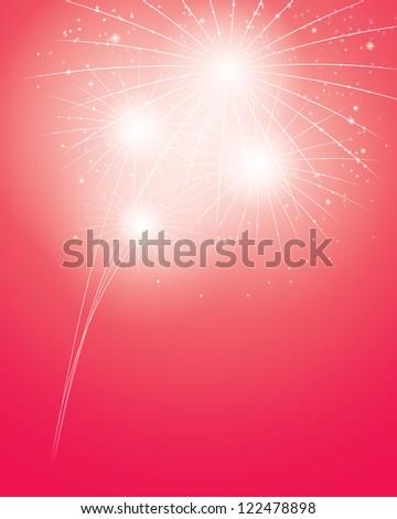 lights of fireworks. crimson festive background. vector eps10 - stock vector