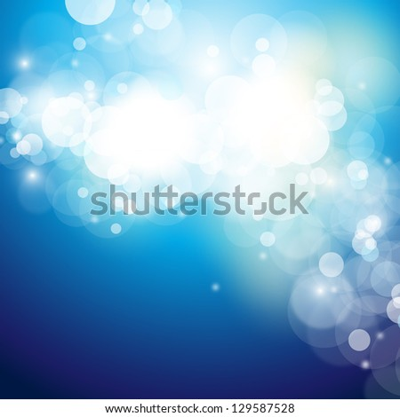 Lights On Bright Background - Vector Illustration, Graphic Design Useful For Your Design. Light Abstract Christmas Background - stock vector