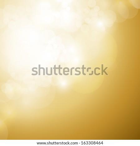 Lights On Golden Background - Vector Illustration, Graphic Design Useful For Your Design.  - stock vector