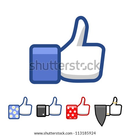 Like. - stock vector
