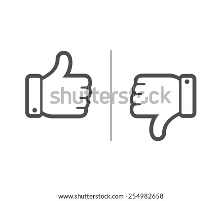Like and Dislike button - stock vector