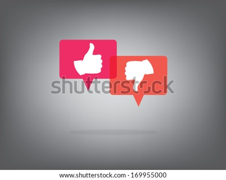 like and dislike  Illustration, Vector,background,icon - stock vector
