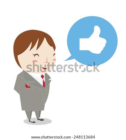 like business man charactor  - stock vector