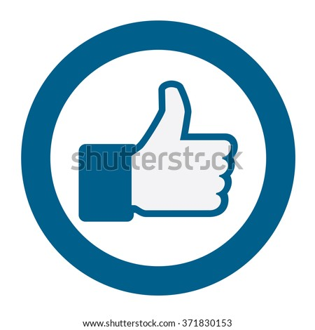 Like button,vector illustration,icon