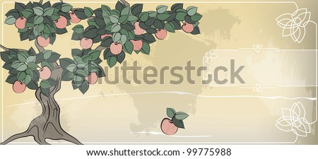like father like son; like master like man; the apple does not fall far from the tree; eps10 - stock vector