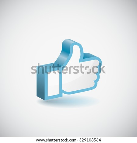 Like hand icon - stock vector