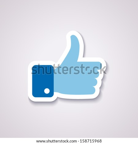like icon isolated in blue colors with background - stock vector