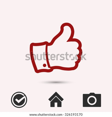 LIKE icon , vector illustration. Flat design style   - stock vector