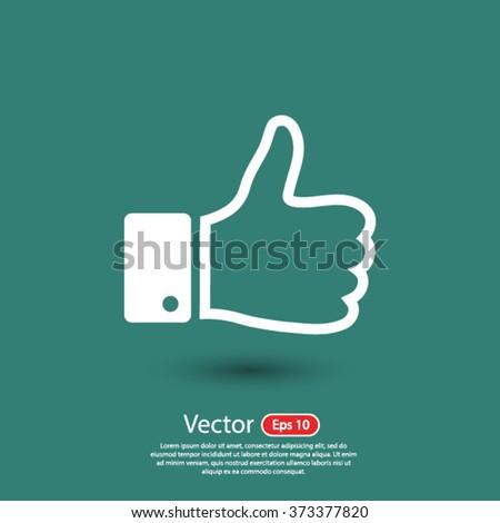 like icon vector, symbol like, sign like vector, up like icon vector, social like icon vector, eps 10 like icon vector, button like icon vector, hand like icon vector, illustration like icon vector - stock vector