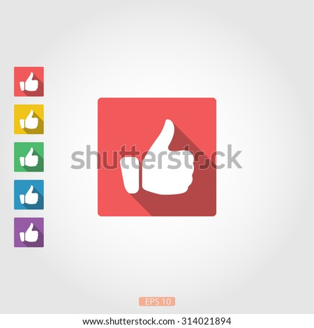 Like icons set - stock vector
