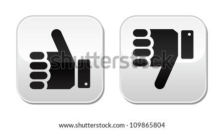 Like it Unlike buttons - stock vector