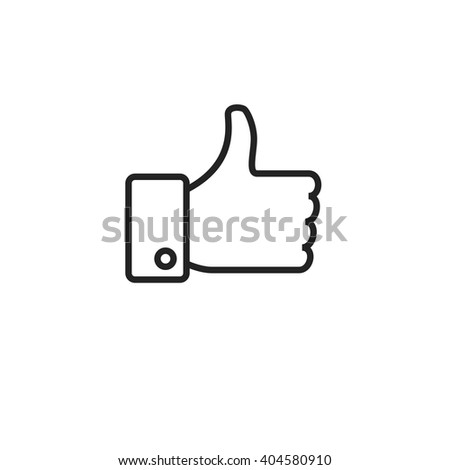 Like Outline Icon - stock vector