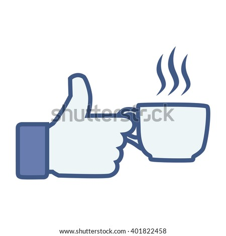 Like/Thumbs up/Hand hold Coffee cup. Like Icon. Like Icon Vector. Like Icon JPEG. Like Icon Object. Like Icon Picture. Like Icon Image. Like Icon Graphic. Like Icon Art. Like Icon JPG. Like Icon EPS - stock vector