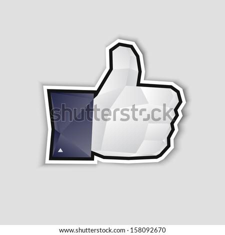 Like us - stock vector