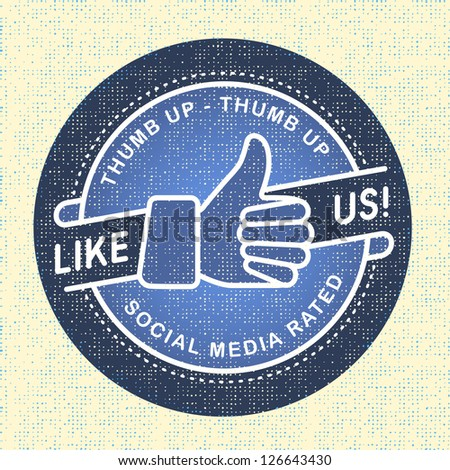 Like us Icon, Illustration icon social networks - stock vector