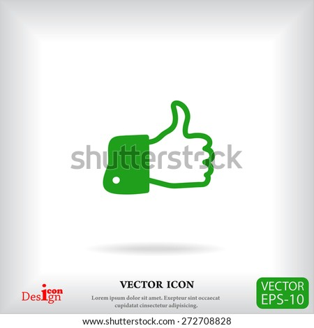 like vector icon - stock vector