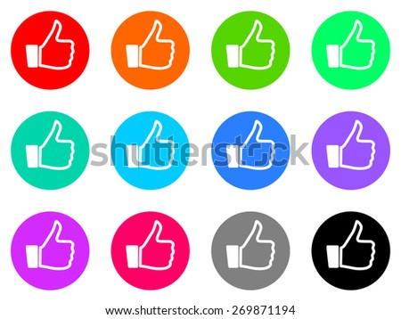 like vector icons set - stock vector