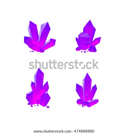 Lilac crystals set