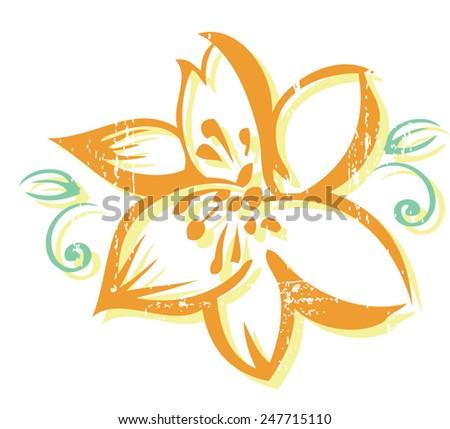lili flower - stock vector