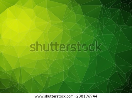 Lime green bright abstract triangle image for web design - stock vector