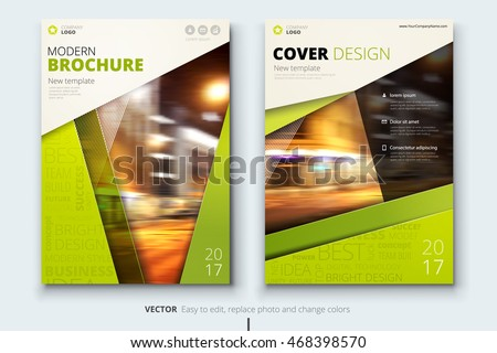Lime Green Brochure Design Corporate Business Stock Vector 468398570