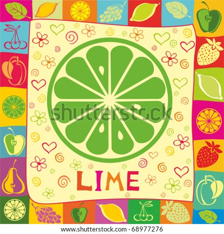 lime vector illustration.