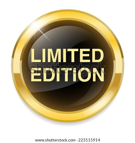 limited edition button - stock vector