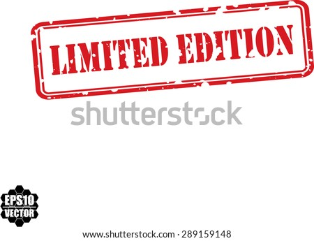 Limited edition grunge rubber stamp on white background, vector illustration - stock vector
