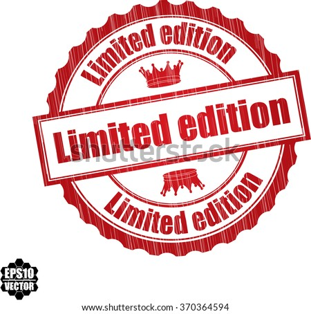 Limited edition grunge rubber stamp, vector illustration - stock vector