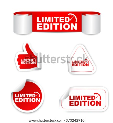 limited edition, red vector limited edition, red sticker limited edition, set stickers limited edition, element limited edition, sign limited edition, design limited edition, limited edition eps10