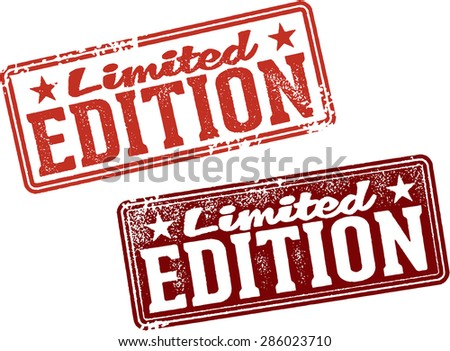 Limited Edition Rubber Stamps - stock vector