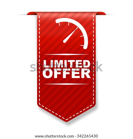 limited offer, red vector limited offer, red banner limited offer, element limited offer, sign limited offer, design limited offer, picture limited offer, illustration limited offer, limited offer eps - stock vector