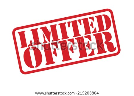 LIMITED OFFER Rubber Stamp vector over a white background. - stock vector