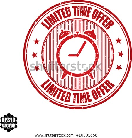 Limited time offer grunge stamp.Vector - stock vector