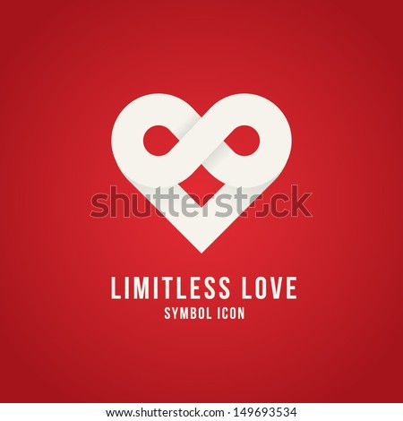 Limitless love symbol icon or logo template - stock vector