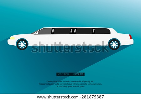 Limousine icon,sign. Modern simple design,flat style. Vector illustration EPS