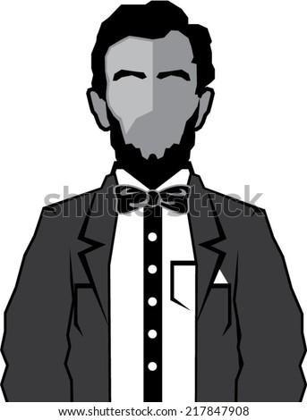 Lincoln cartoon vector - stock vector