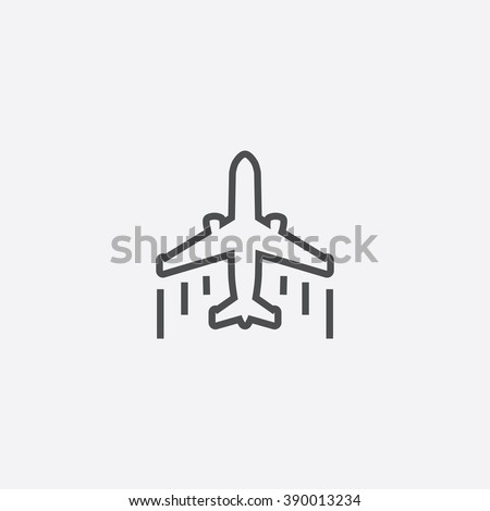 line airplane Icon - stock vector