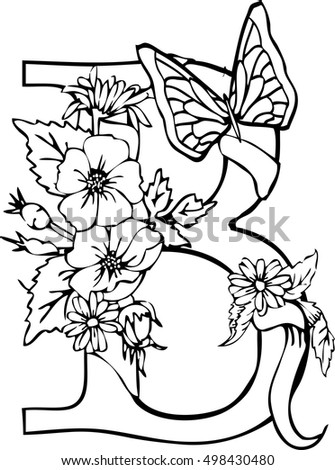 Vector Outlines Adult Coloring Book Page Stock Vector 461634190 ...
