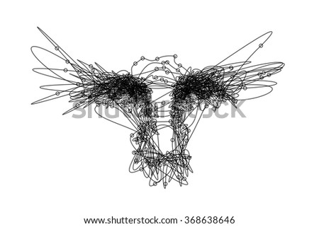 Line Art Free : Line art drawing eyes nose sketched stock vector hd royalty free