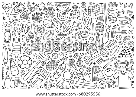 line art vector hand drawn doodle stock vector 680295556 shutterstock rh shutterstock com vector line art file vector line artwork