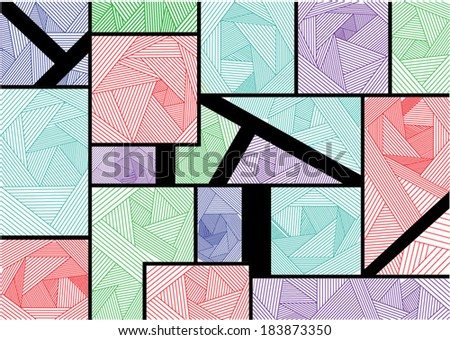 Line background - stock vector
