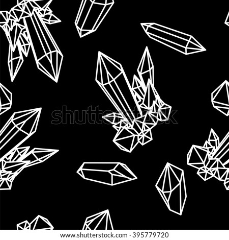 Line crystal seamless pattern Abstract geometric seamless pattern. Abstract black seamless pattern. Black geometric abstract crystals. Geometric crystal seamless pattern, Geometric abstract seamless - stock vector