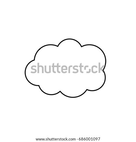 line cute cloud weather design icon
