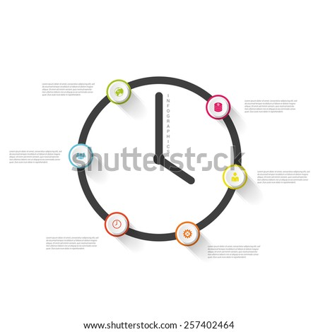 Line Diagram Template Vector. Business. Infographics - stock vector